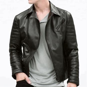 Men Fashion Casual Biker Design Leather Jacket 2018 Buy Leather