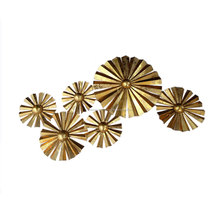 Fluted Metal Wall Decor in Gold Finish