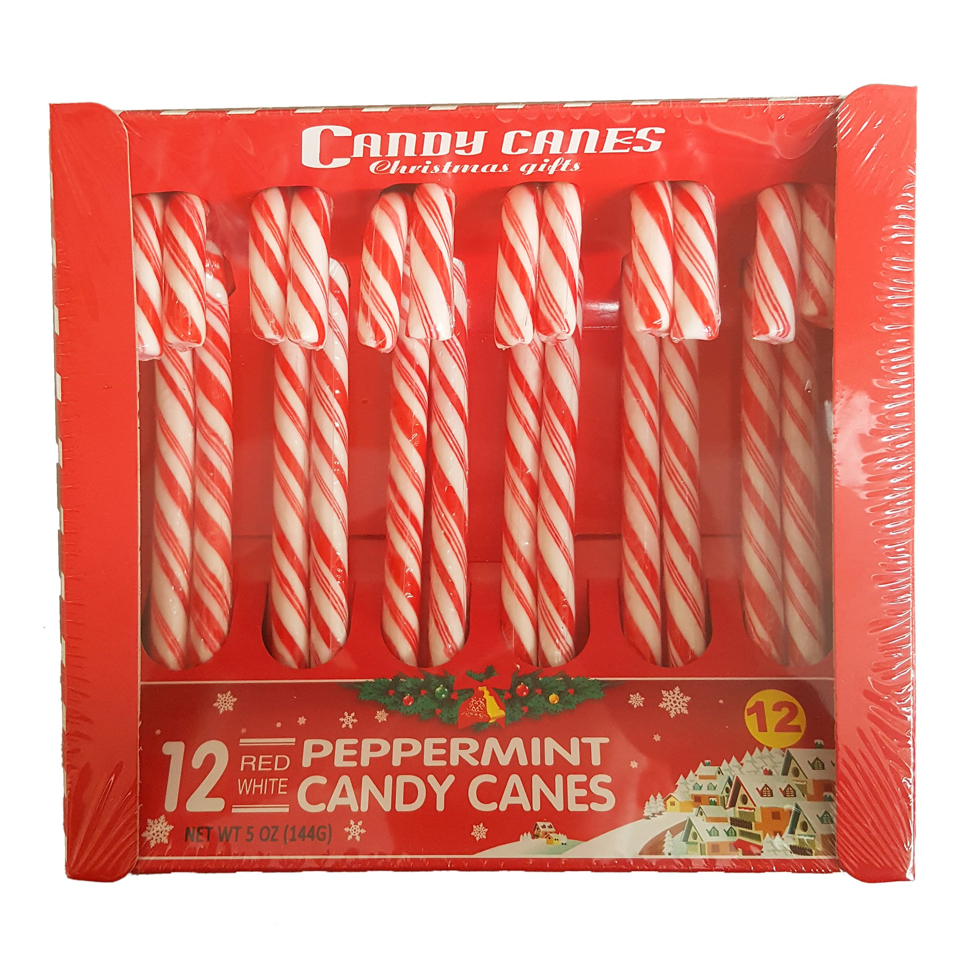 HB 12 Peppermint Christmas Gift Candy Canes
