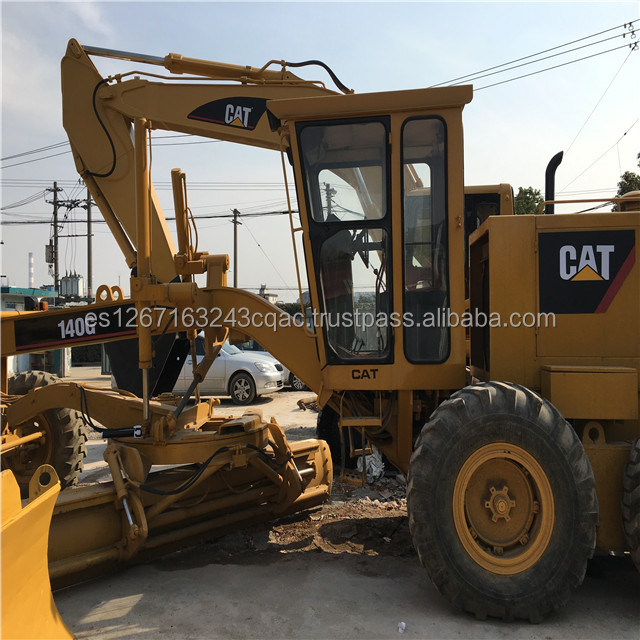 Durable Secondhand Machine original Caterpillar 140G Motor Grader from Japan in yard for sale