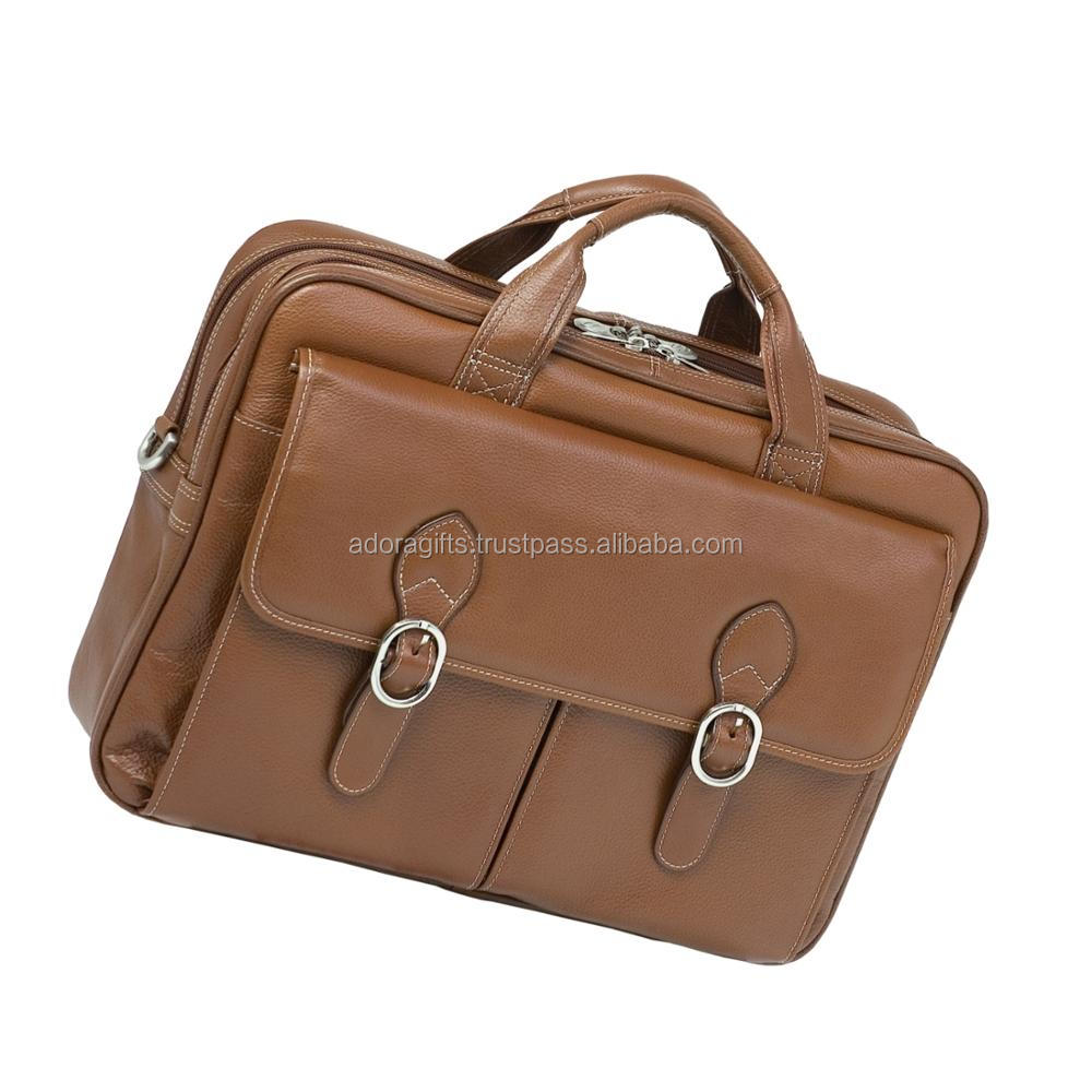 Genuine leather Camera and Laptop Messenger Bag / Business Leather laptop bags / Wholesale Custom Mens Leather Laptop bags
