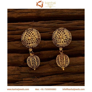 Gold Plated Fancy Indian Earrings And Antique Jewellery Wholers Exporters In India Imitation 15662 Earring