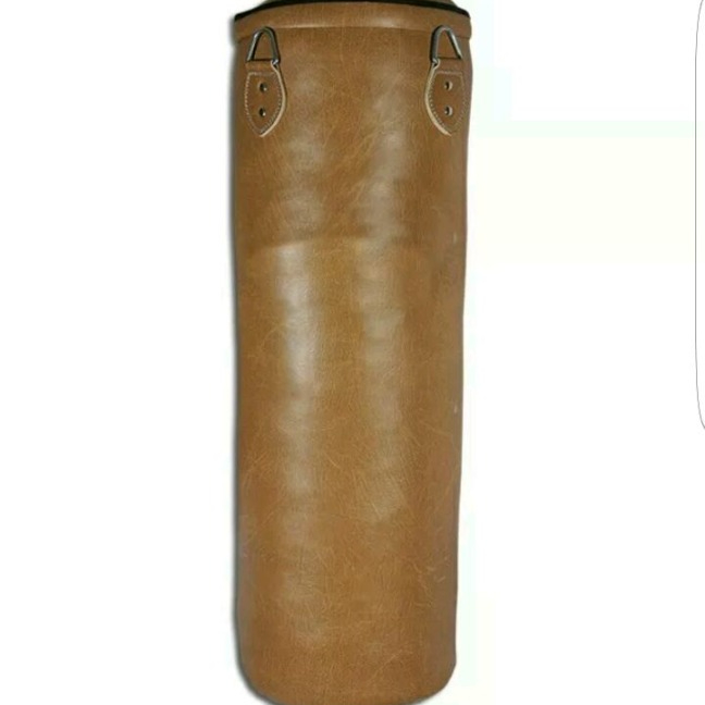 Dark Brown,100 cm BRAZILIAN MMA Boxing Floor to Ceiling Punching Bag PU Leather