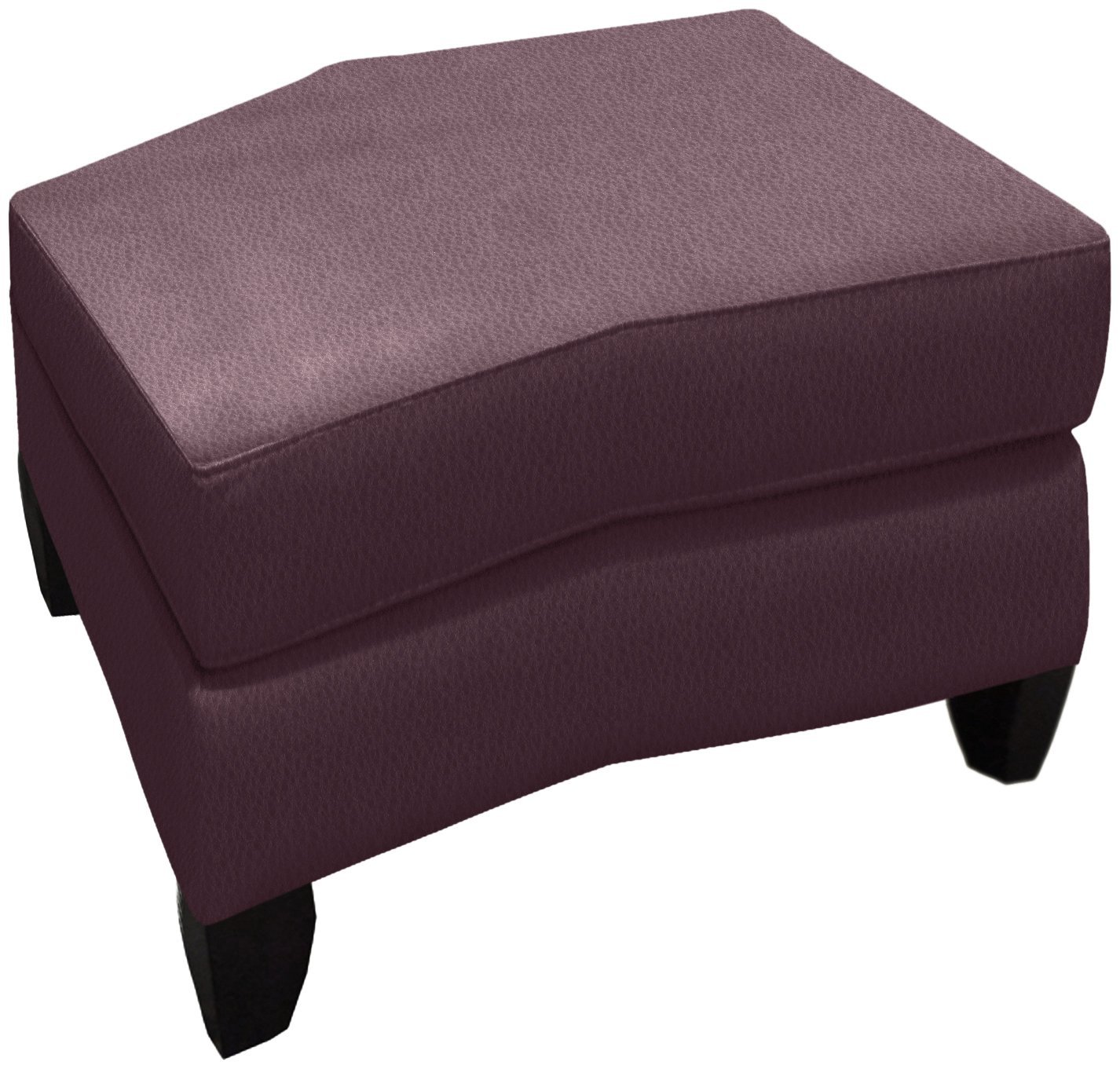 Omnia Leather Benjamin Storage Conversation Ottoman in Leather, Empire Butternut with no nailhead