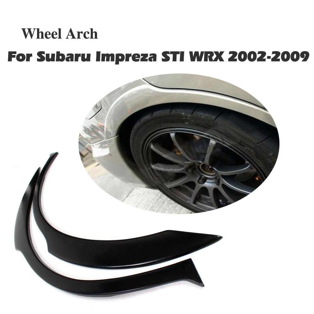 JCSPORTLINE Rear Wheel Arch Fender Flares for Subaru Impreza WRX-STI 2002-2009