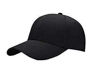 bd446b25203948 Get Quotations · Miki Da Black Adult Unisex Casual Solid Adjustable Baseball  Caps Snapback hats for men baseball cap