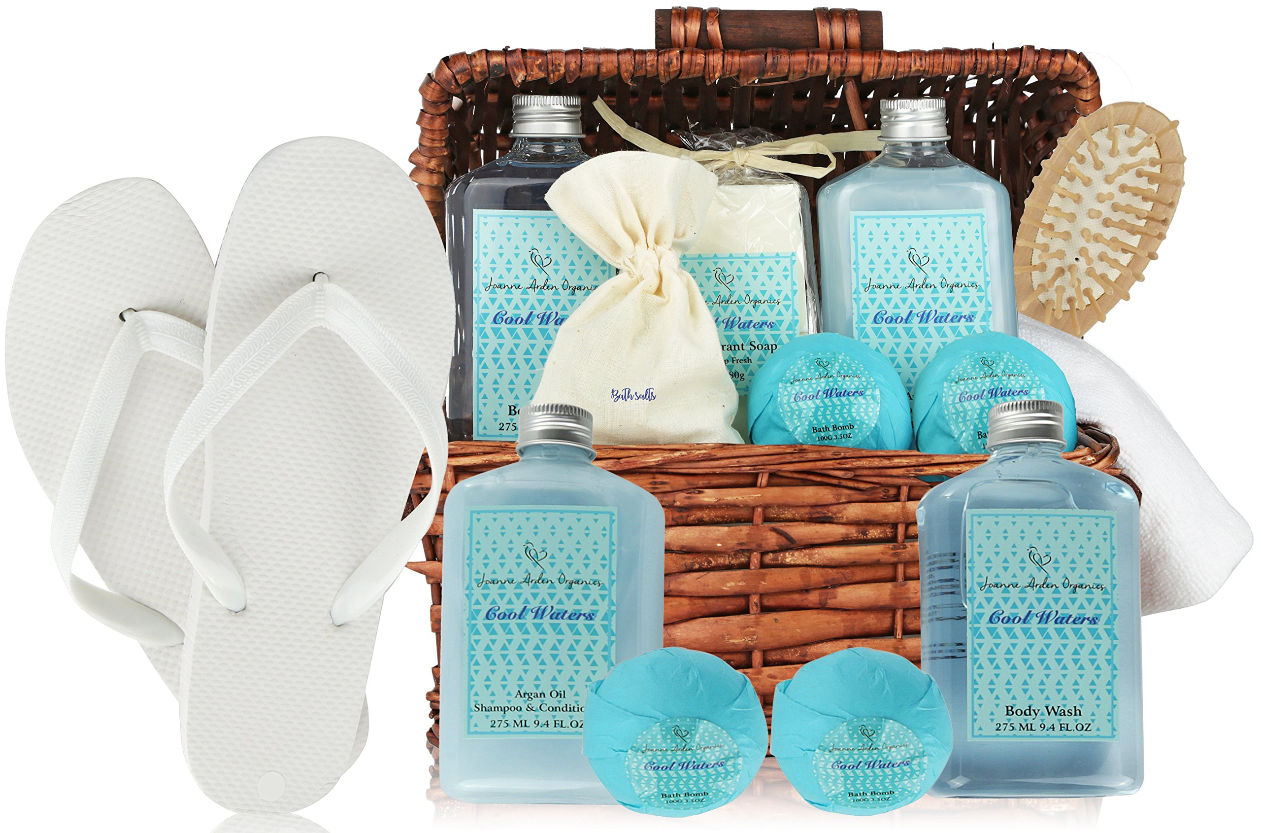 deluxe spa basket cool waters gift baskets for men women bath body