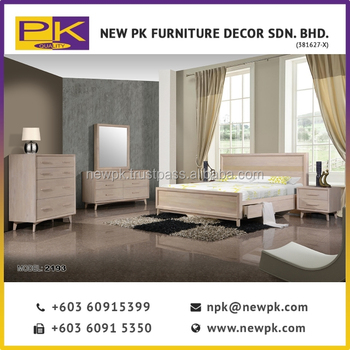 Npk 2193 Best Quality Modern Bedroom Furniture Simple Double Beds Set