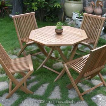 Java Wooden Garden Furniture Set