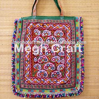 6e9e79d1e10f Gypsy Mirror Work Theli Bag- Gujarati Handmade Theli Bag- Gujarati  Embroidery Theli Bag