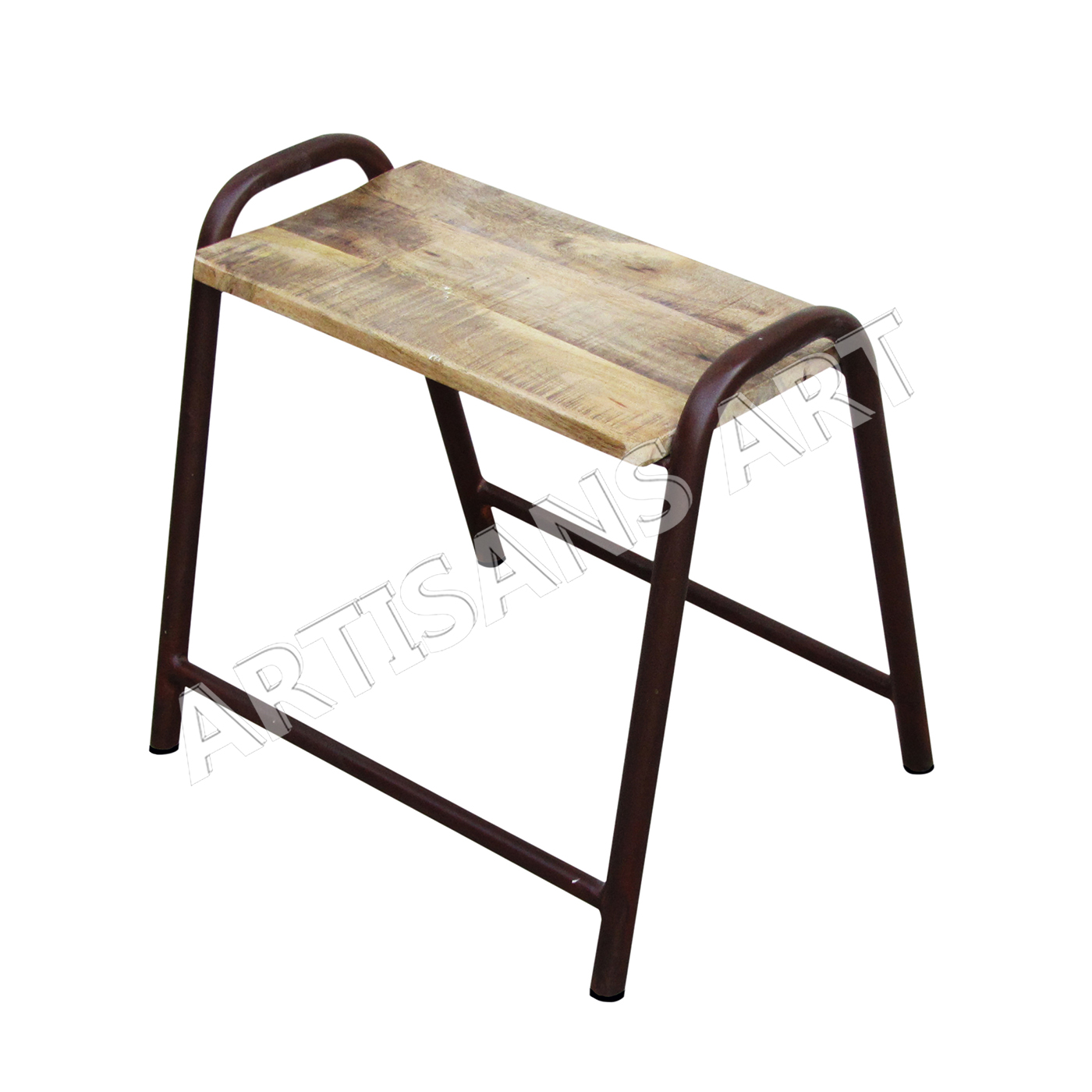 Surprising Rusty Finish Vintage Industrial Metal Stool With Mango Wood Top Originally Hand Molded Stool Seating Furniture Buy Heavy Pipe Vintage Stack Able Machost Co Dining Chair Design Ideas Machostcouk