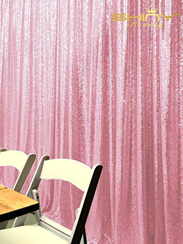 ShinyBeauty 4FTX6FT-Pink-SEQUIN Backdrop Shimmer Holiday Fabric Backdrops, Sequin Photography, Photo Booth Curtains (Pink)