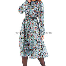 Printed flora polyester textile soft printed Fabric material Silk chiffon Polyester dress blouse pants skirt printed fabric