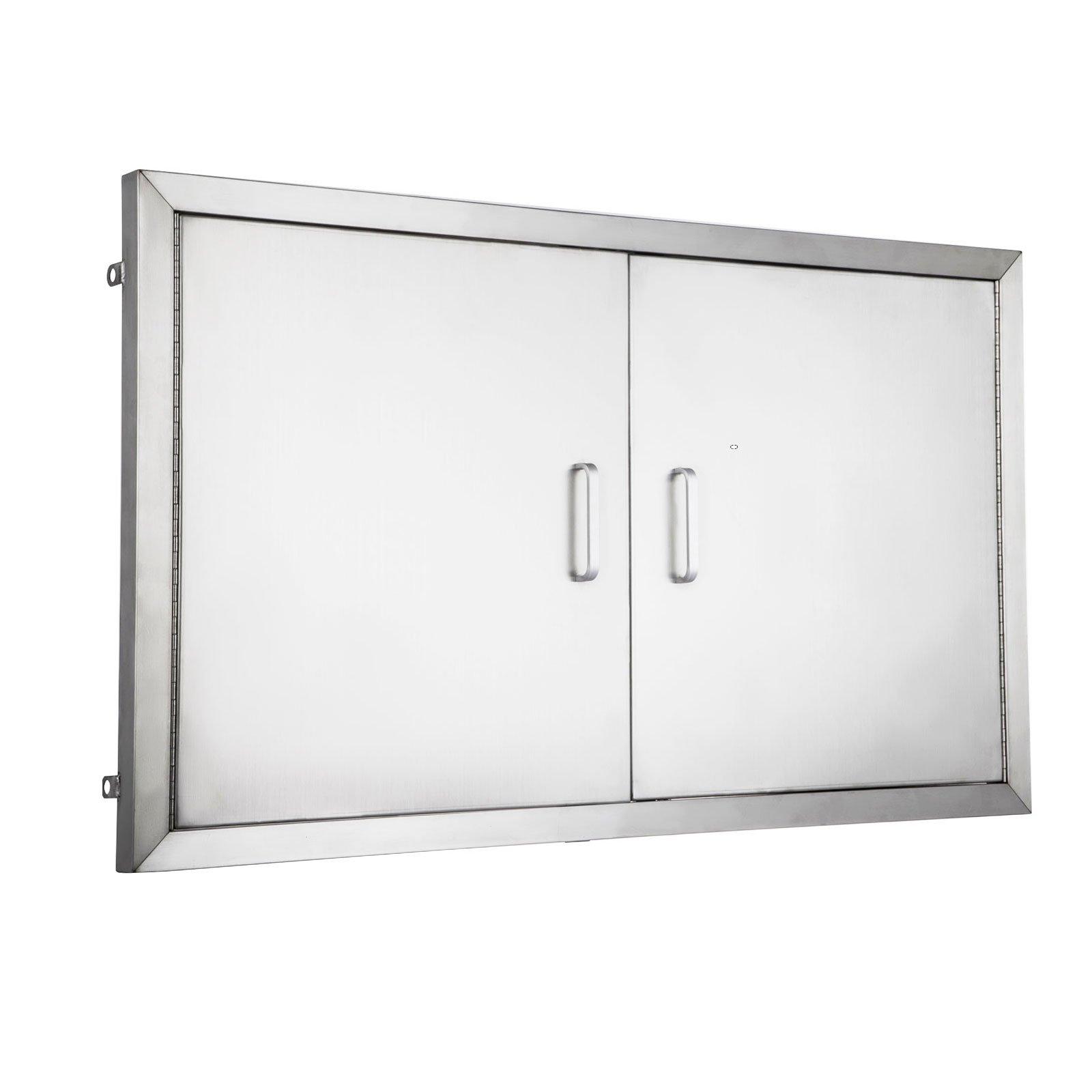 Get Quotations · Happybuy BBQ Island Door 36 Inch Flush Mount BBQ Access  Door Commercial 304 Brushed Stainless Steel
