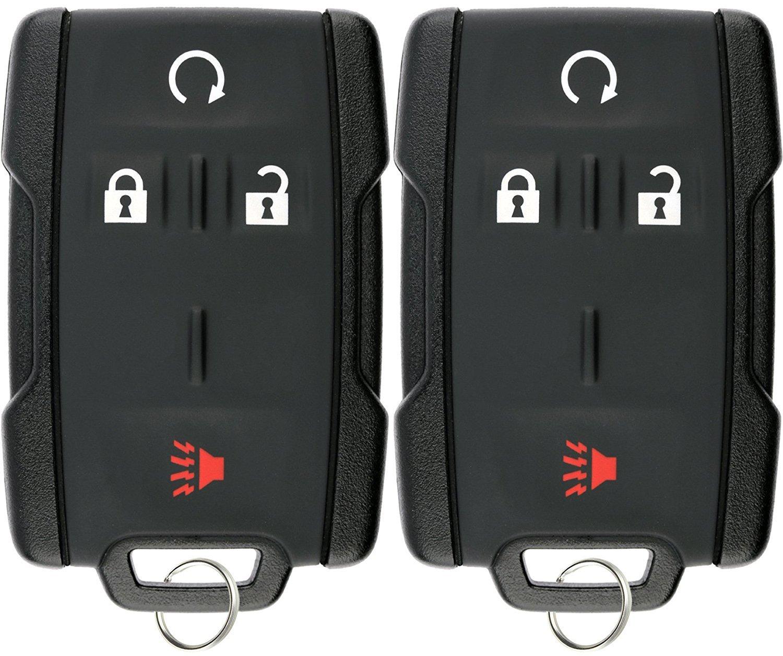 KeylessOption Keyless Entry Remote Control Car Key Fob Replacement for Silverado Sierra M3N-32337100 (Pack of 2)