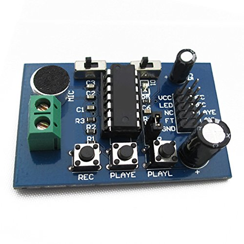 SODIAL(R) ISD1820 recording module voice board module recording sound amplification(amplifier)