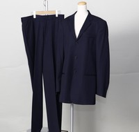 Used original Brand High quality ARMANI Men`s Blue suit for bulk sale.