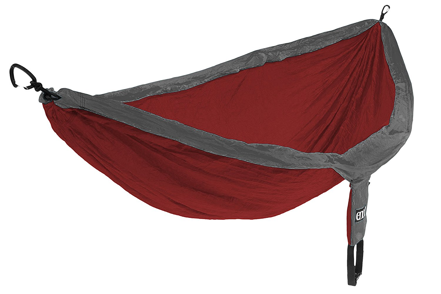 ENO Eagles Nest Outfitters - DoubleNest Hammock, The Original Portable Outdoor Camping Hammock for Two, Special Edition Colors, Charcoal/Maroon