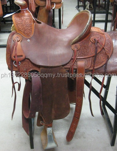 KULLANILAN WESTERN BARREL YARIŞ YERİ, RANCH SADDLE, ROPING SADDLE