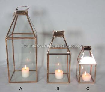 Copper Lantern Candle Lanterns Gl