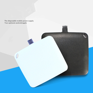 1000mah One-time Paper Disposable Power Bank Portable Mobile Phone Battery Charger with 2 in 1 Connector for iPhone and Android
