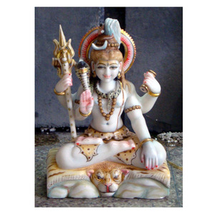 Natural Marble Indian Sitting Shiva Murti