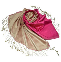 Superb Satin woven Reversible usable mulberry silk scarves shawls