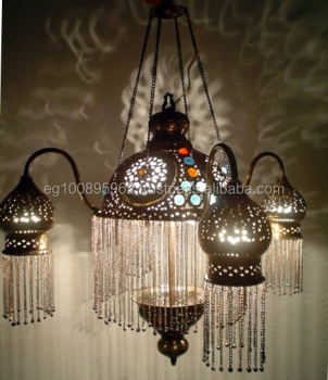 Br264 4 Shades Moroccan Jeweled Pendant Light Lamp Chandelier Lighting Lantern Product On Alibaba