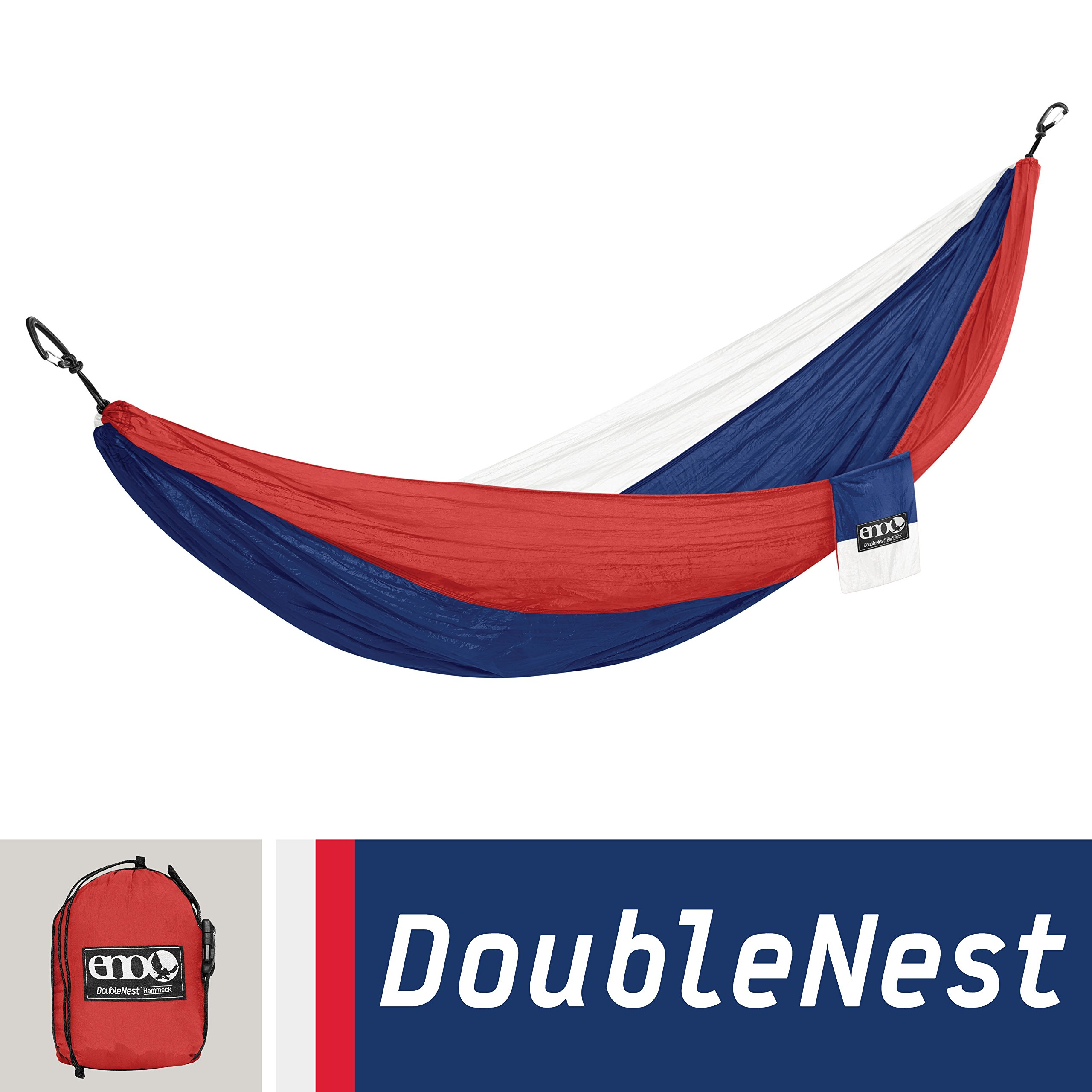 ENO Eagles Nest Outfitters - DoubleNest Hammock, Portable Hammock for Two, Patriot