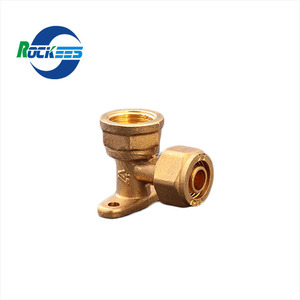 Rockees All Sizes 1216 1620 25mm 4 Way Brass Pex Pipe Fitting
