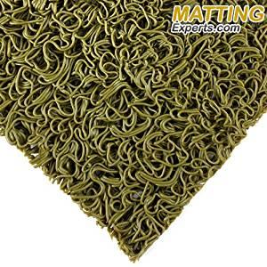 "VinLoop Mini 3/8"" thick Vinyl Wet Area Floor Mat for Swimming Pool Shower Locker Room Sauna SPA Bathmat Splash Decking Drains Water PVC Anti-Slip Indoor/Outdoor MattingExperts (3' x 2', Moss Green)"