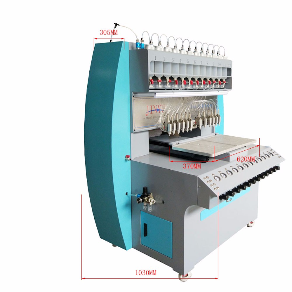 JY-B01 full-automatic 1-12 colors liquid pvc dispensing machine