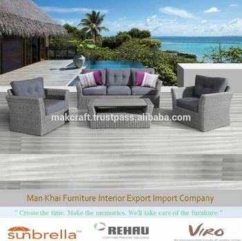 Günstige Korb Synthetischen Rattan Sofa Set Garten Outdoor Möbel