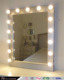 led makeup vanity lights stand up mirror with lights
