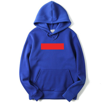 USA SIZE Fashion Color Hoodies Men's Thick Clothes Winter Sweatshirts Men Hip Hop Streetwear Solid