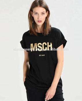 e5704ed8d73b 2017 Cheap China Wholesale Clothing European Fashion Style Plain  Black,Women Black Printed T Shirt