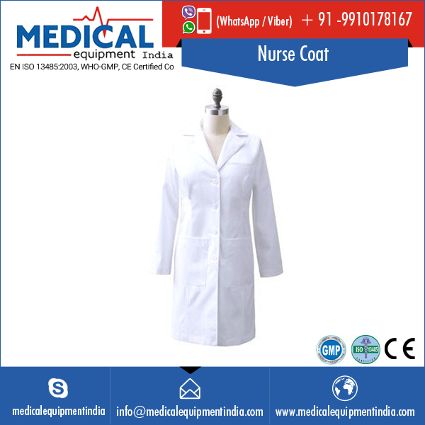 Assured Quality White Nurse Coat for Hospitals
