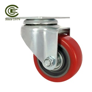 CCE Caster 3 Inch Polyurethane Caster Plate Wheels