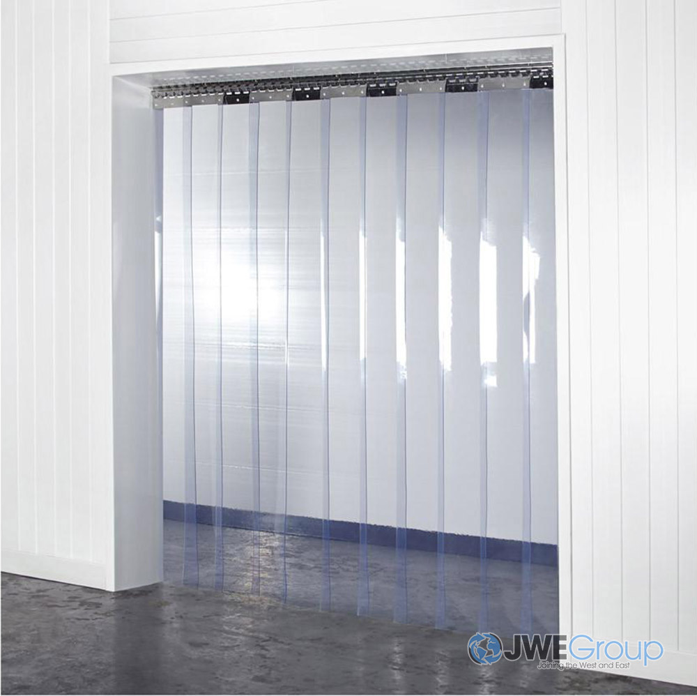 Arrowzoom 1mm Thick - 4 x 7 ft. Clear PVC Strip Curtain Warehouse Thermal Plastic Insulation KK1173