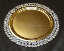 Hot Selling Crystal Charger Plate/ Metal Charger Plate