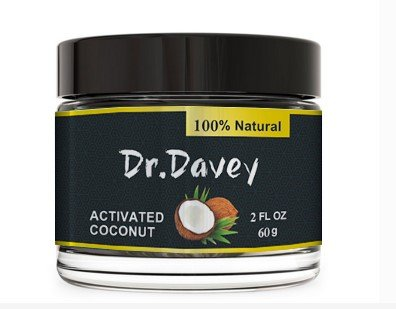 Dr.Davey Activated Coconut Charcoal Teeth Whitening Powder-Pure Natural Tooth Whitener with Black Carbon From Coconut Shells and Food Grade Formula,Mint Flavor,2 FL OZ,60g
