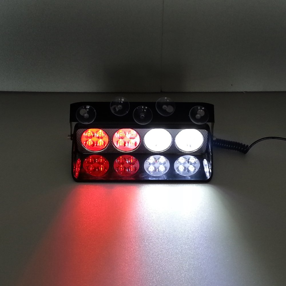 Cheap Led Emergency Lightbar Find Deals On Power Strobe Get Quotations Szcafelimy 16 Red White 16w Windshield Dash Lights High Multi