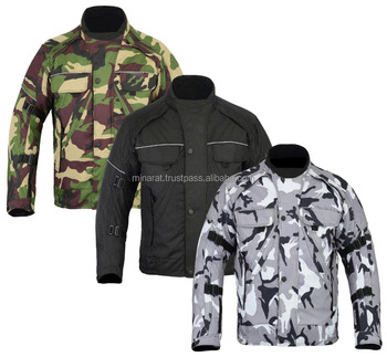 Men Motorcycle Motorbike Cordura Jacket All Weather Camouflage CE Armoured Waterproof