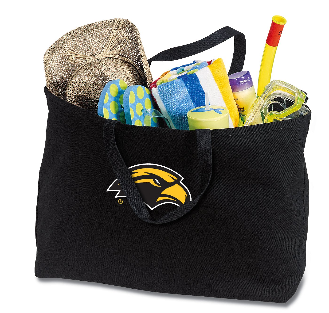 JUMBO USM Tote Bag or Large Canvas Southern Miss Shopping Bag