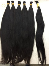 [TOP] Super Double drawn hair human remy vietnamese silky straight hair black color #1, #1b