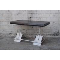 Modern Industrial Iron Base And Top Dining Table /Office Desk