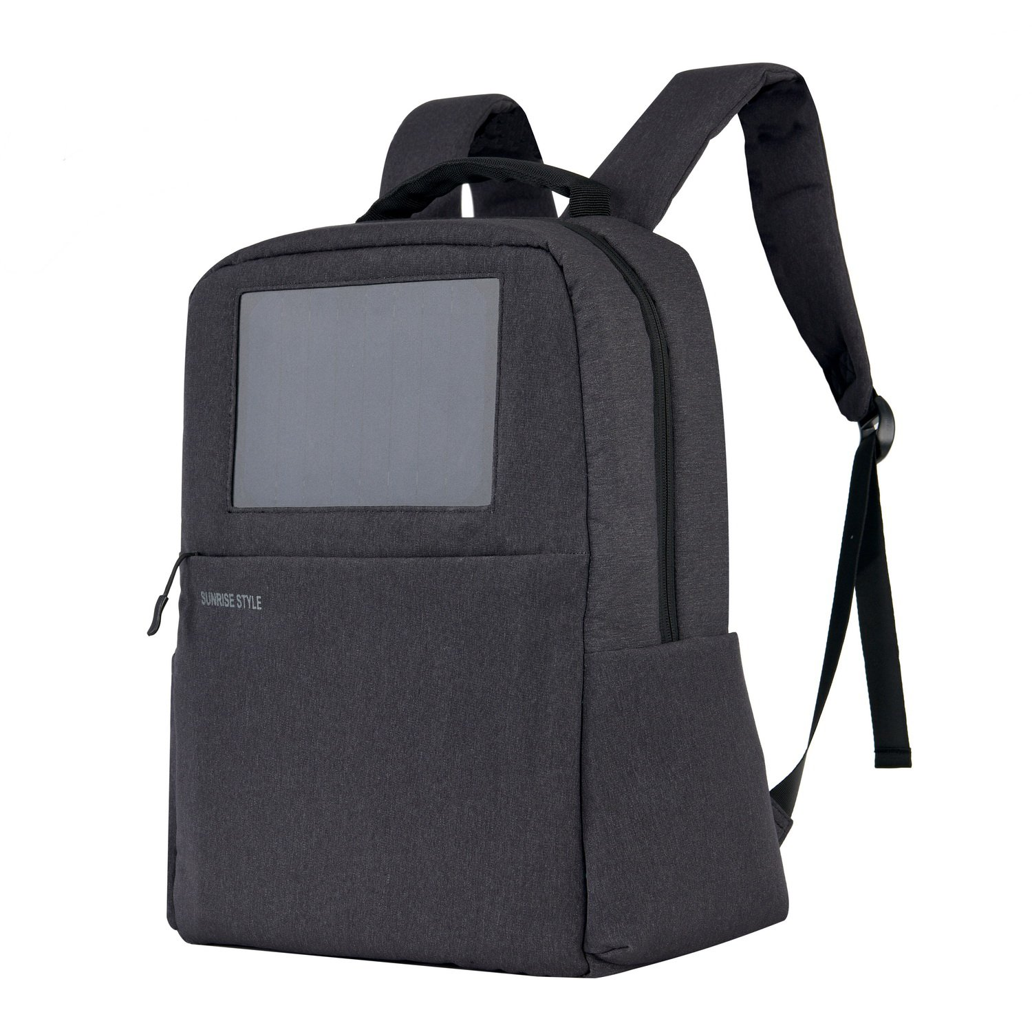 Sunrise Solar Backpack with Built-in Solar Panel and a 4000mAh Power Bank to Charge Smart Phones, Consumer Electronics, an Awesome Pocket for 15.6-Inch Laptop