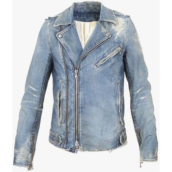 fashion men plain denim jacket slim fit jeans jackets
