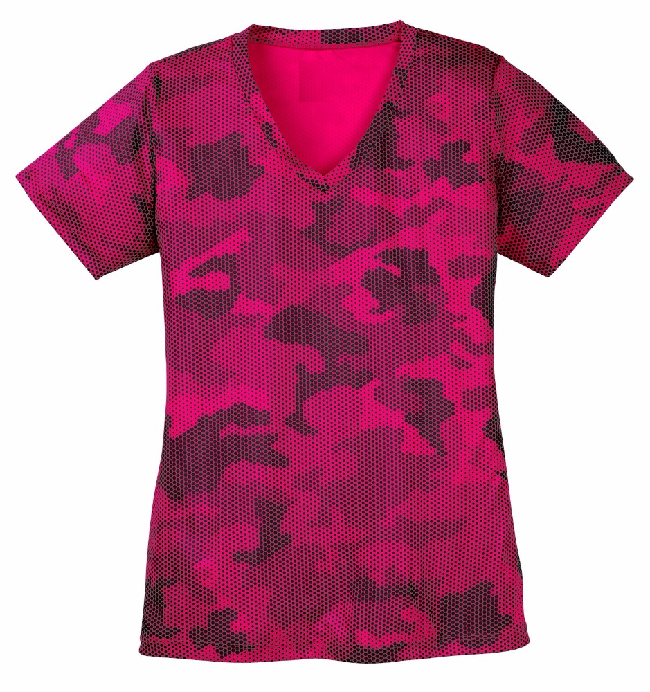 Camo ho V-hals sublimatie Custom Womens Softbal Jerseys tops en Uniformen