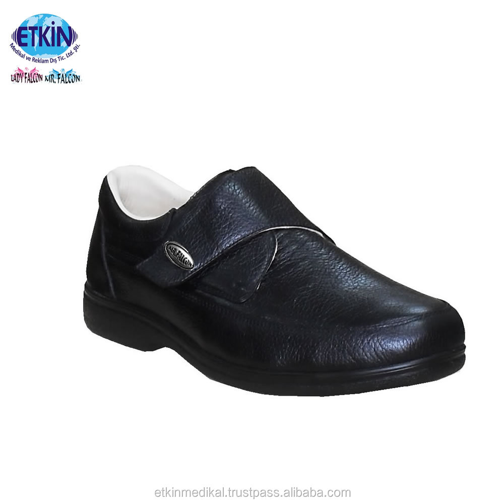 for Products Diabetic Leather Shoes Navy Genuine Soft Protection Medical 1xq7cqXOwW